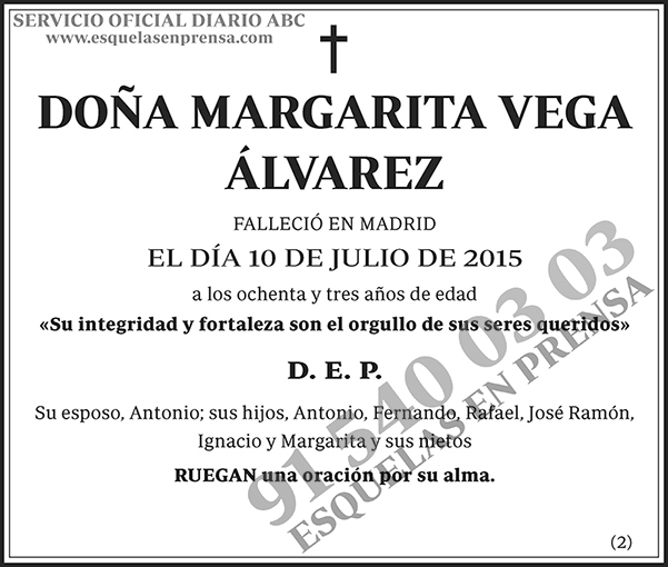 Margarita Vega Álvarez